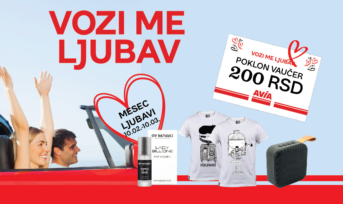 MY RIDE IS LOVE – Month of Love at AVIA gas stations!