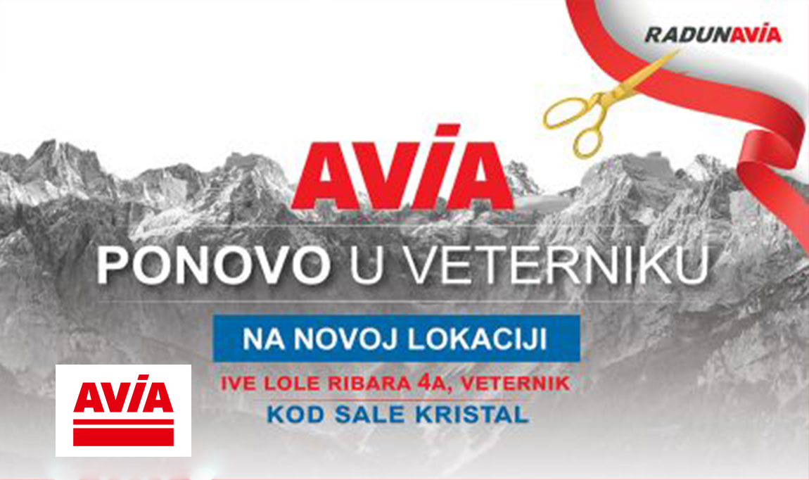 AVIA IS BACK TO VETERNIK IN A NEW LOCATION