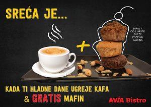 Gratis mafin uz kafu u AVIA Bistro-u